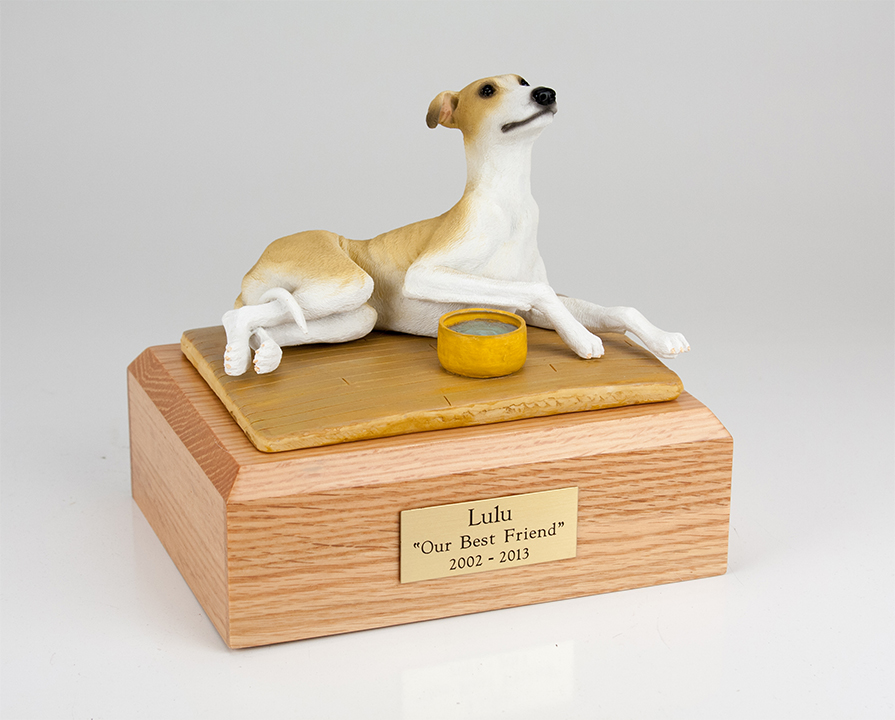Dog, Greyhound, Tan - Figurine Urn