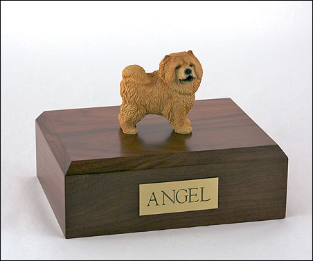 Dog, Chow Chow, Red - Figurine Urn
