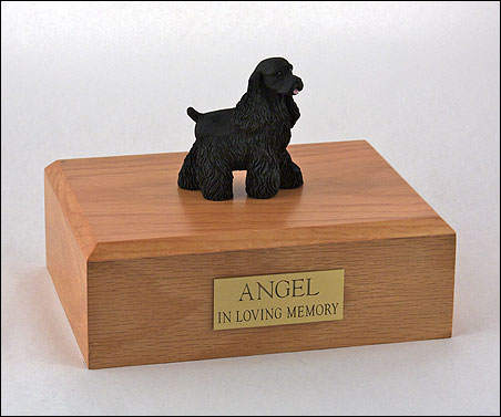 Dog, Cocker Spaniel, Black - Figurine Urn