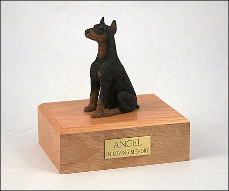 Dog, Doberman - Figurine Urn
