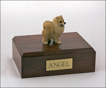Dog, Pomeranian, Red - Figurine Urn