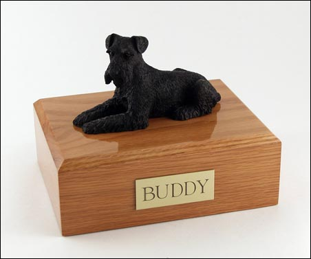 Dog, Schnauzer, Black - Figurine Urn