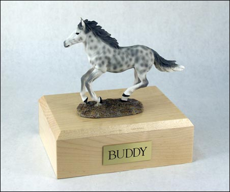 Horse, Dapple, Gray, Running - Figurine Urn