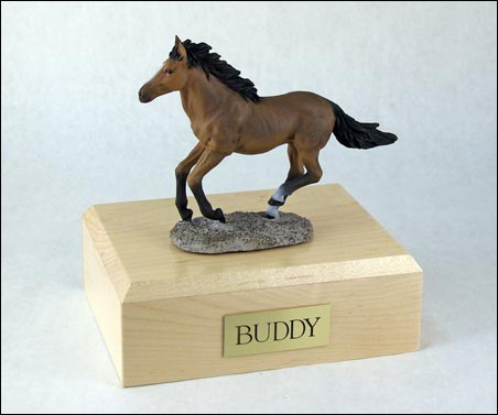 Horse, Bay, Running - Figurine Urn