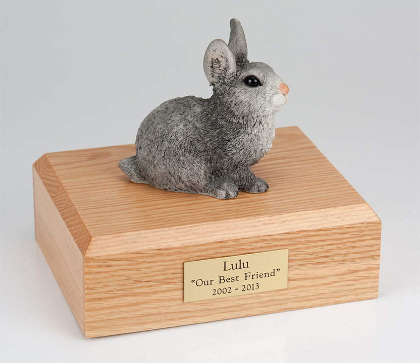 Rabbit, Gray - Figurine Urn