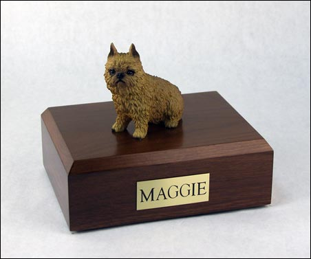 Dog, Brussels Griffon, Red - Figurine Urn