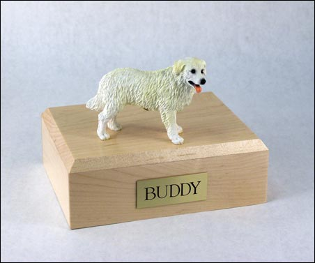 Dog, Kuvasz - Figurine Urn