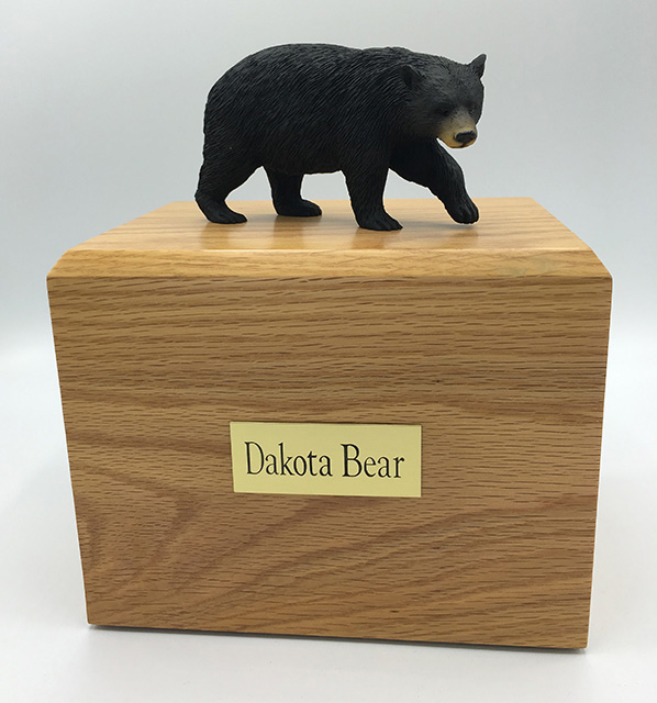Black Bear - Figurine Urn