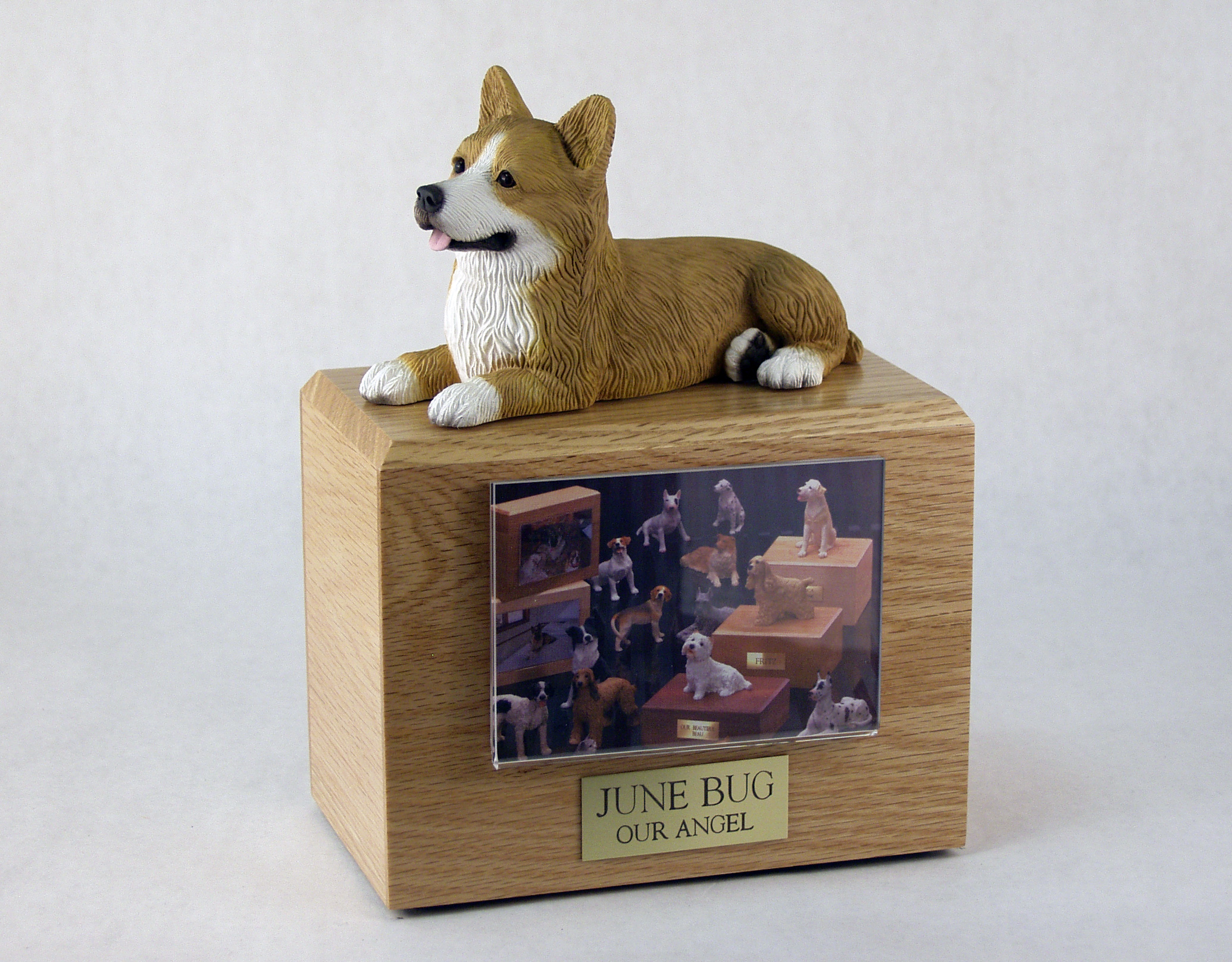 Photo Urn with Figurine - Medium - 3.5 x 5 photo holder