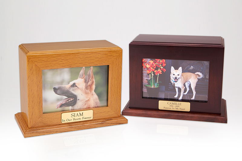 Framed Photo Urn - Medium Horizontal