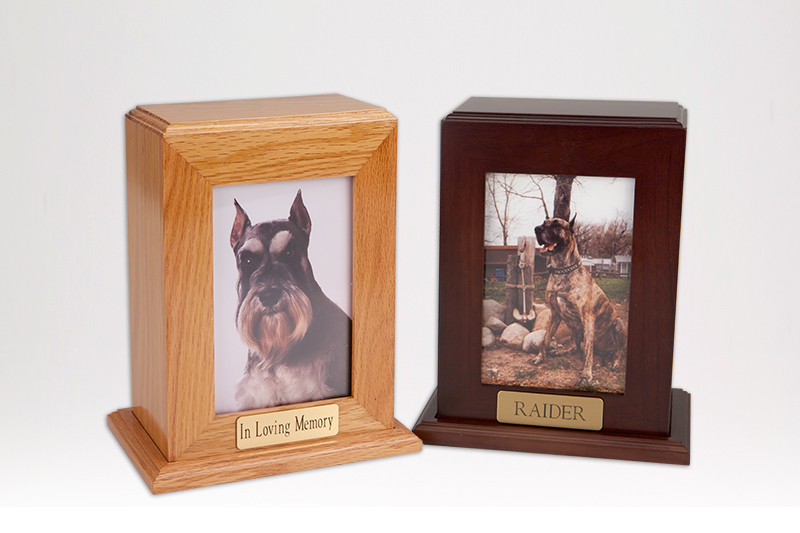 Framed Photo Urn - Medium Vertical