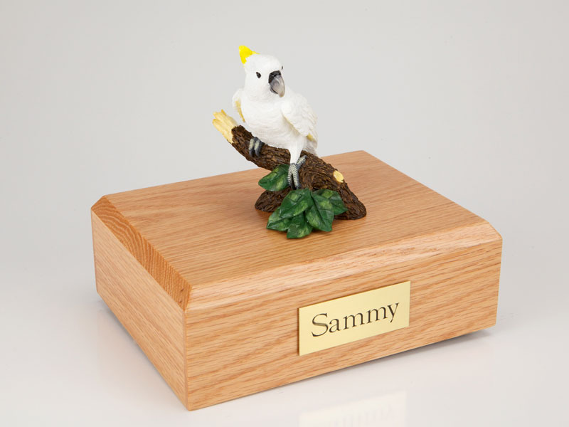 Birds, Cockatoo Parrot - Figurine Urn