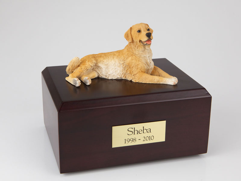Dog, Golden Retriever, Laying - Figurine Urn