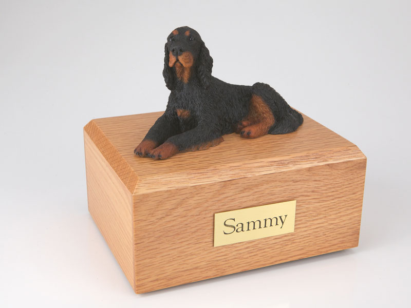 Dog, Gordon Setter - Figurine Urn