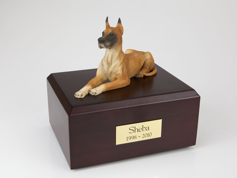Dog, Great Dane, Fawn - Figurine Urn
