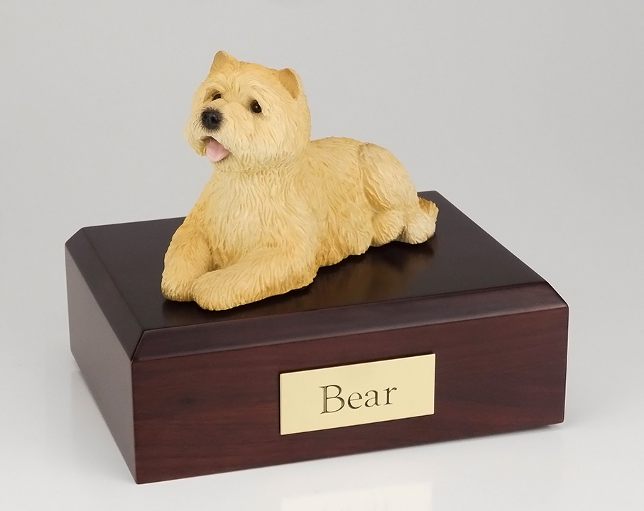 Dog, Cairn Terrier, Tan - Figurine Urn