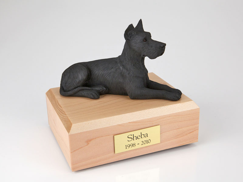 Dog, Great Dane, Black - Figurine Urn