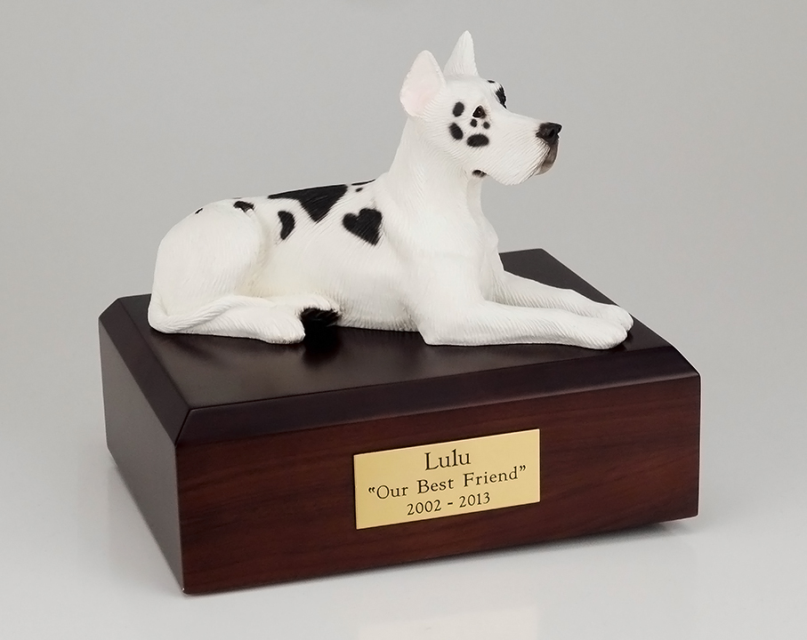 Dog, Great Dane, Harlequin - Figurine Urn