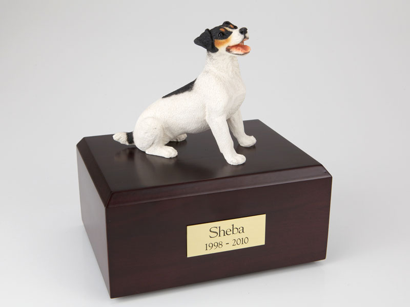 Dog, Jack Russell Terrier, Black/Brown - Figurine Urn