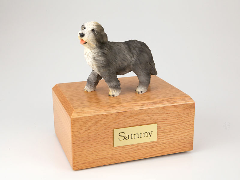 Dog, Bearded Collie - Figurine Urn