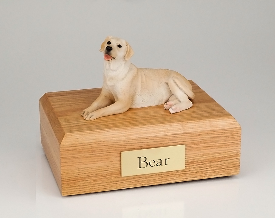 Dog, Labrador, Golden Laying - Figurine Urn