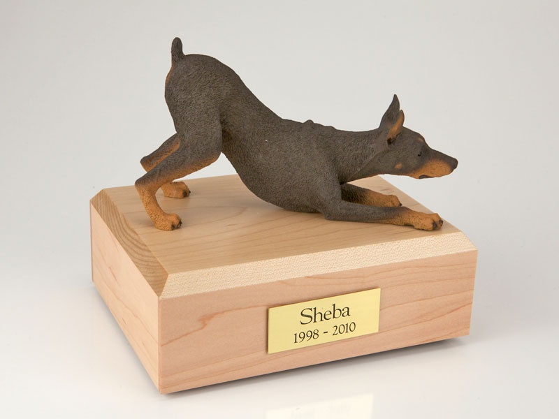 Dog, Doberman, Red - Figurine Urn