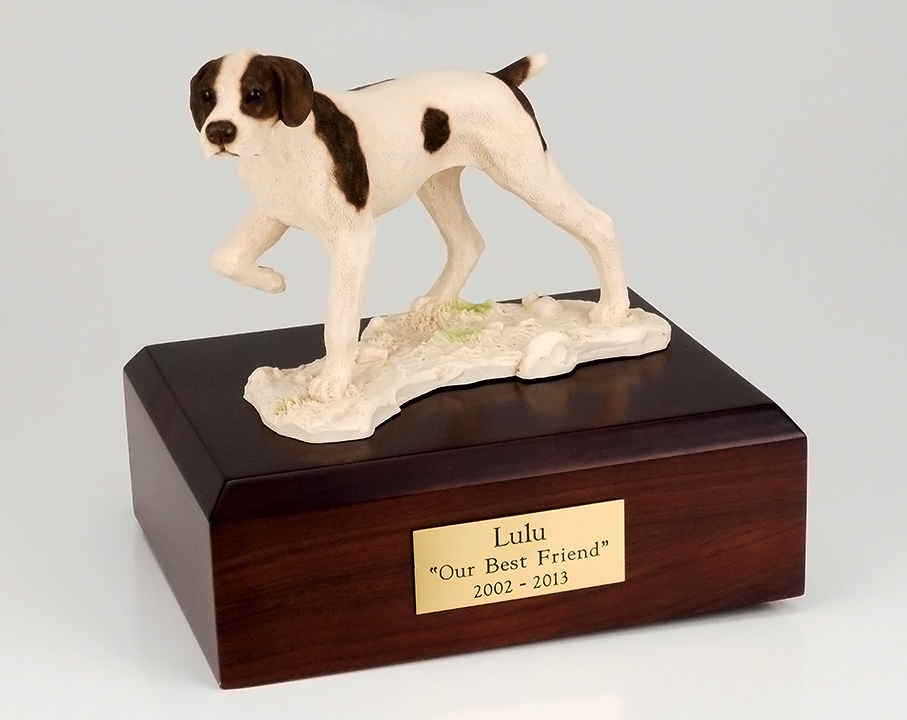 Dog, Pointer - Figurine Urn
