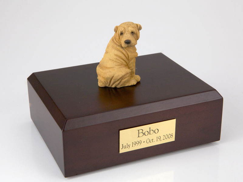 Dog, Shar Pei, Tan - Figurine Urn