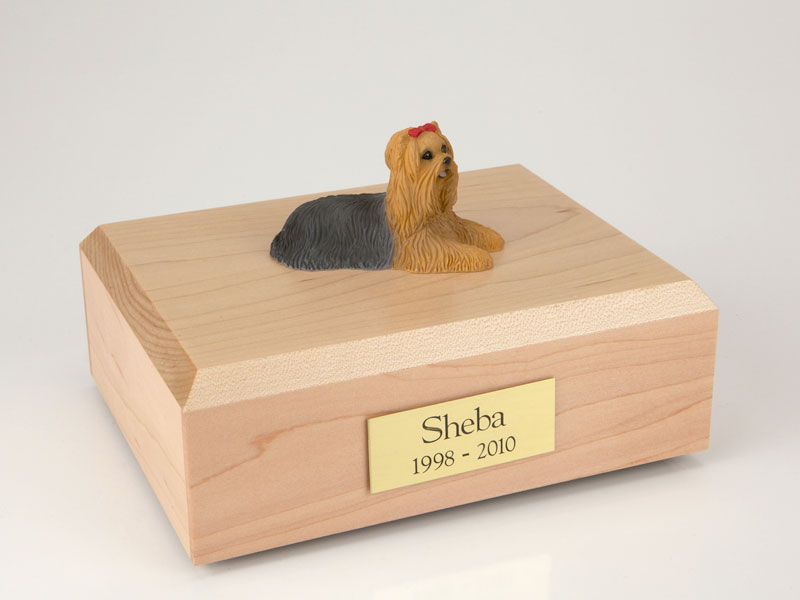 Dog, Yorkshire Terrier - Figurine Urn
