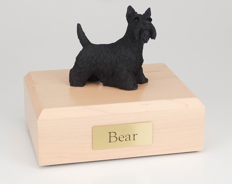 Dog, Scottish Terrier Standing - Figurine Urn