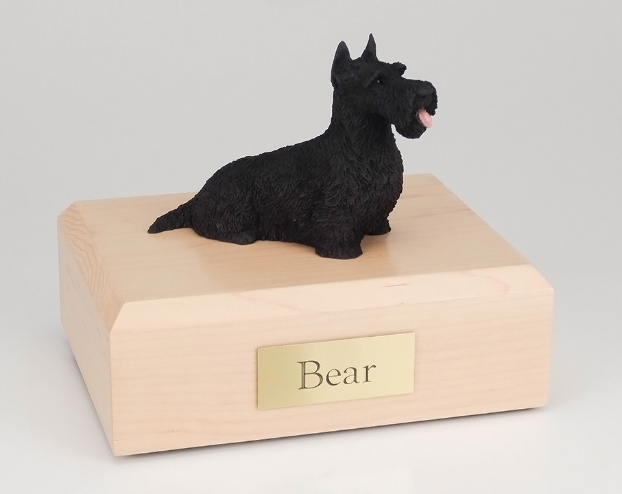 Dog, Scottish Terrier, Black - Figurine Urn