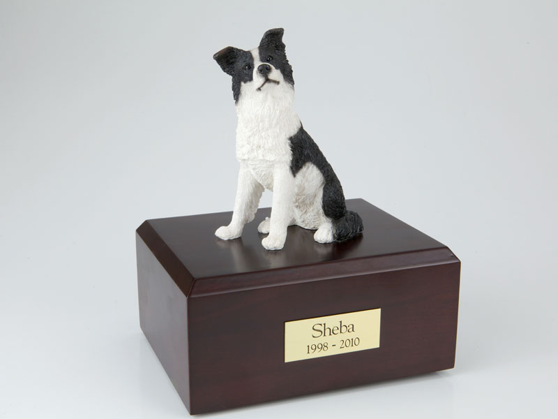 Dog, Border Collie - Figurine Urn
