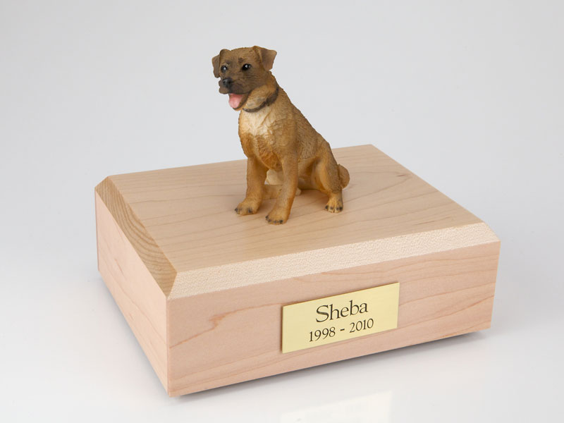 Dog, Border Terrier - Figurine Urn