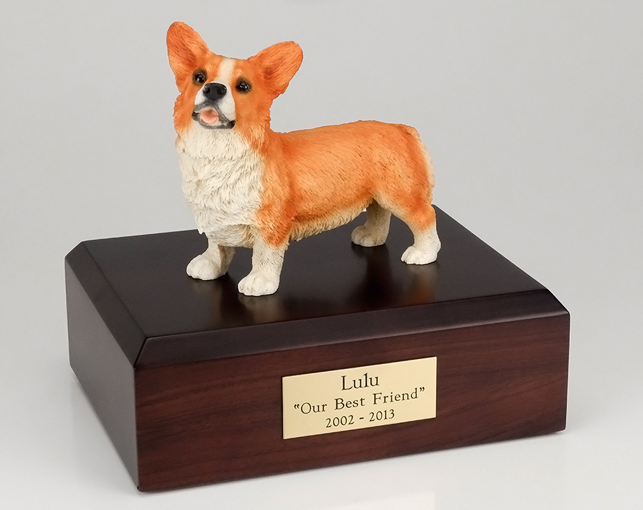 Dog, Welsh Corgi - Figurine Urn