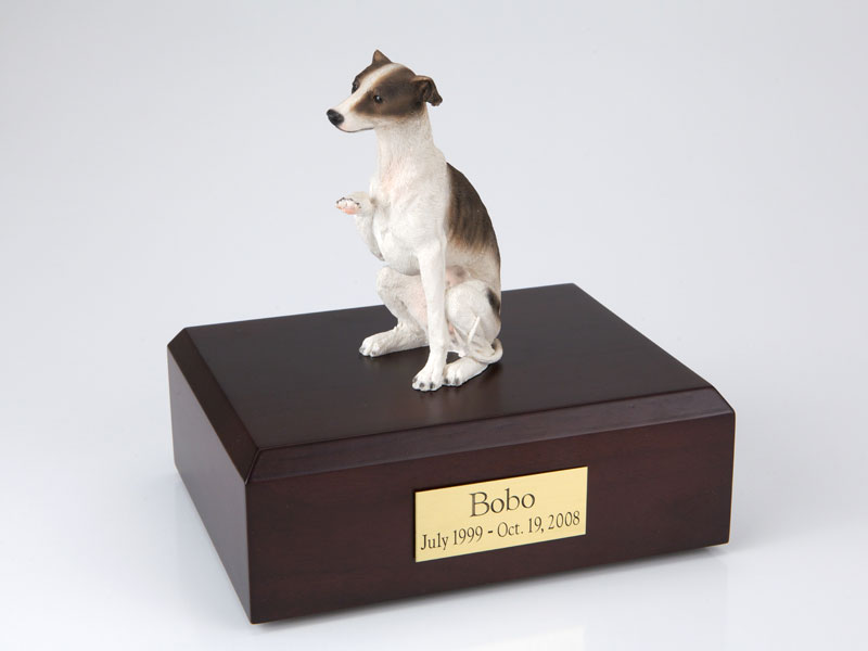 Dog, Whippet, Brown - Figurine Urn