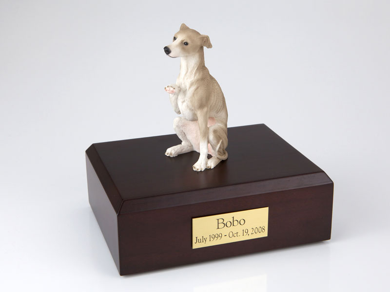 Dog, Whippet, Gray - Figurine Urn