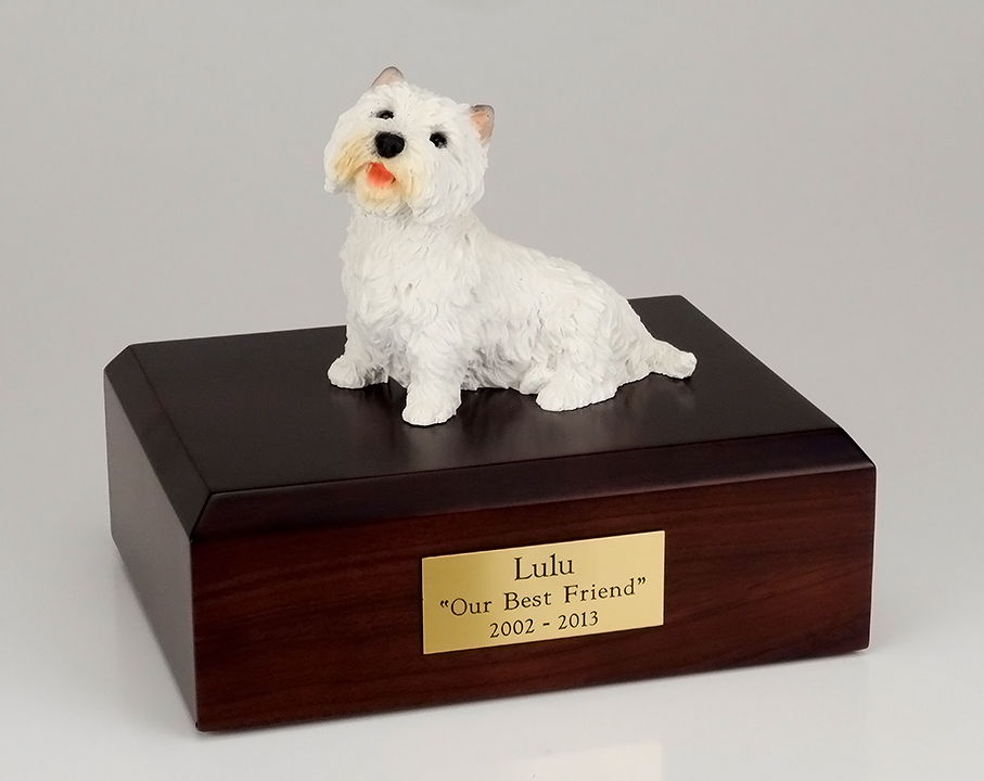Dog, Westie - Figurine Urn