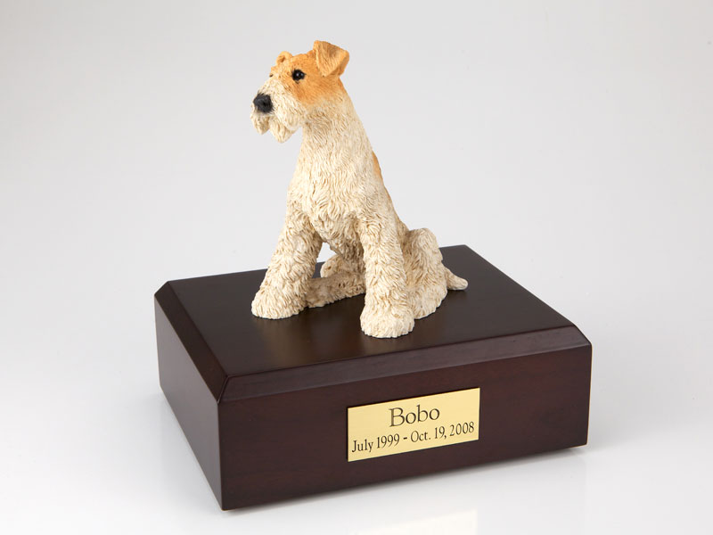 Dog, Fox Terrier - Figurine Urn