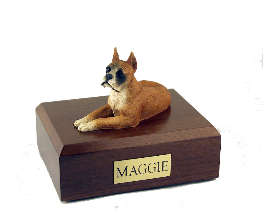 Dog, Boxer - ears up - Figurine Urn