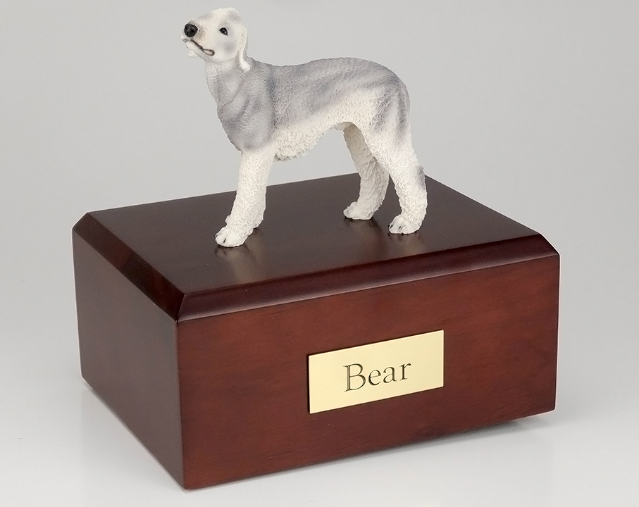 Dog, Bedlington Terrier, Gray - Figurine Urn