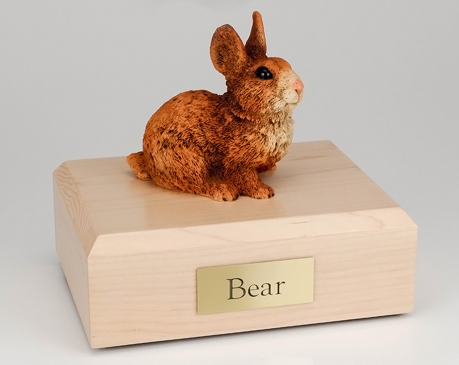 Rabbit, Brown & White - Figurine Urn