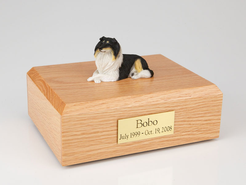 Dog, Collie, Tri-Color - Figurine Urn