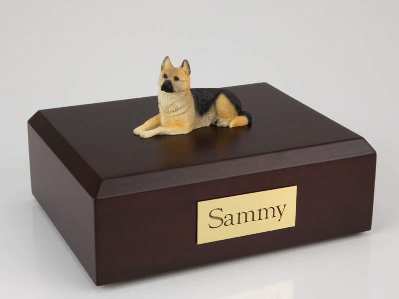 Dog, German Shepherd - Figurine Urn