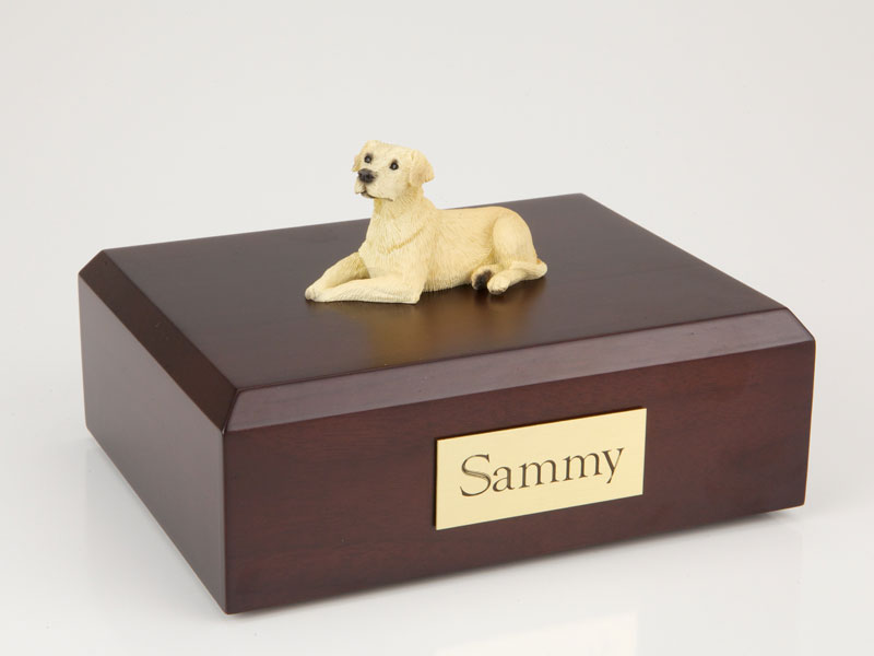 Dog, Labrador, Yellow - Figurine Urn