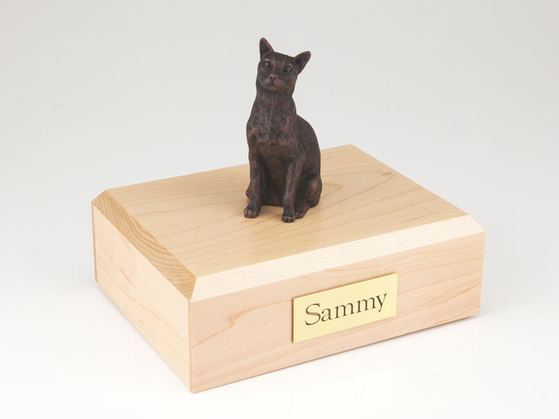 Cat, Siamese Bronze - Figurine Urn