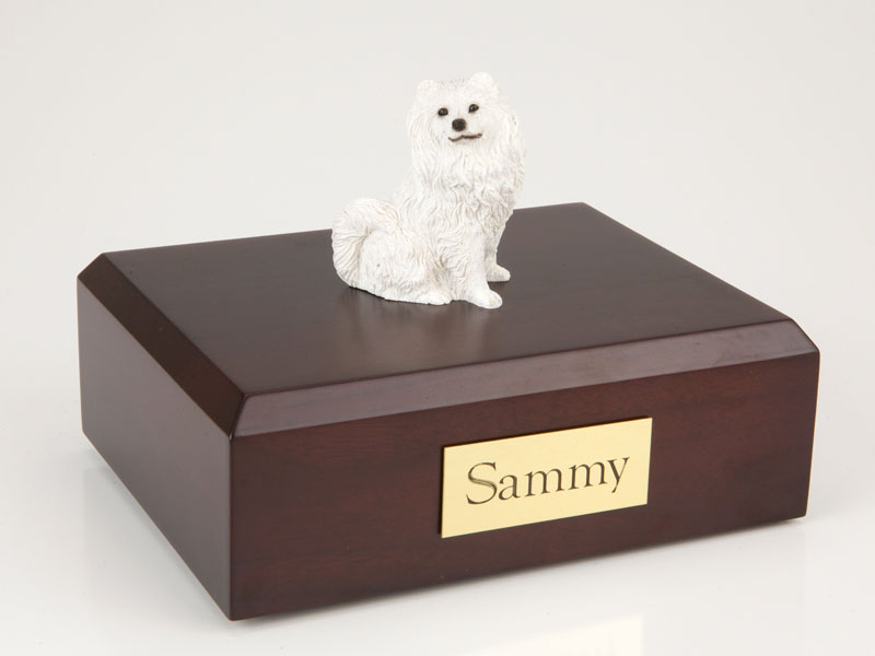 Dog, Samoyed - Figurine Urn