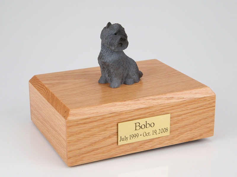 Dog, Cairn Terrier, Black - Figurine Urn