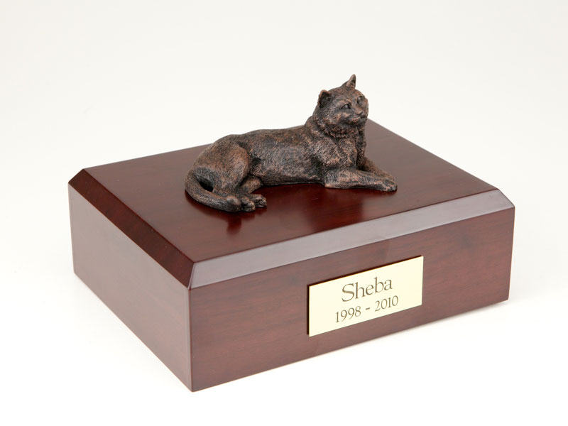 Cat, Tabby, Bronze - Figurine Urn