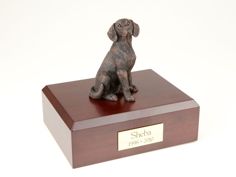 Dog, Beagle, Bronze - Figurine Urn