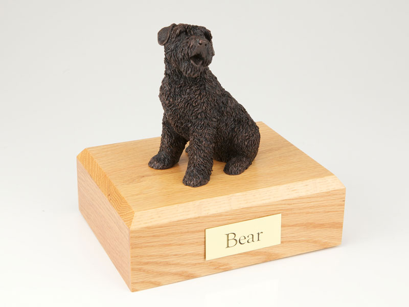 Dog, Bouvier, Bronze -Figurine Urn